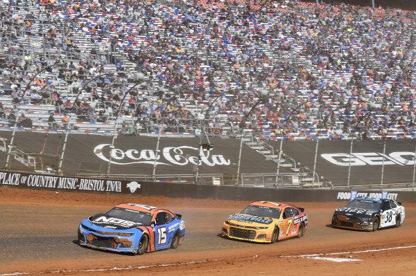 #15: Chris Windom, Rick Ware Racing, Chevrolet Camaro NOS Energy Drink,\ #7: Corey LaJoie, Spire Motorsports, Chevrolet Camaro NASCAR Trucks at Knoxville