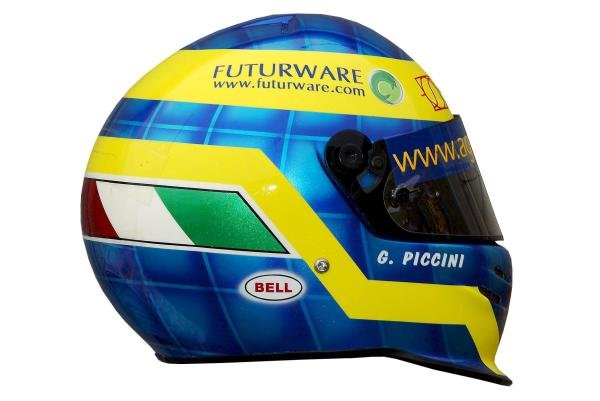 The helmet of Giacomo Piccini (ITA) Imola Racing.