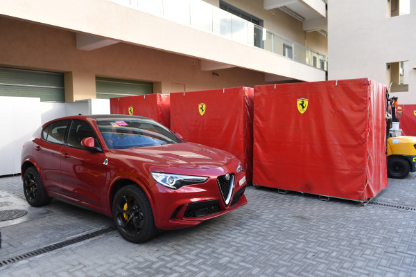 Alfa Romeo Stelvio and Ferrari freight