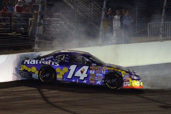 2002 NASCAR,Richmond Intl. Raceway,Sept 06-07, 20022002 NASCAR, Richmond,Va . USA -Larry Foyt backing into the wall in BGN action,Copyright-Robt LeSieur2002LAT Photographic