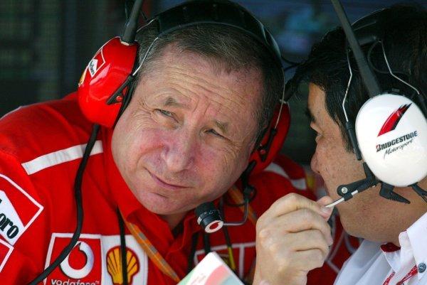 Jean Todt (FRA) Ferrari General Manager. Formula One World Championship, Rd13, Hungarian Grand Prix, Hungaroring, Hungary, 22 August 2003. DIGITAL IMAGE