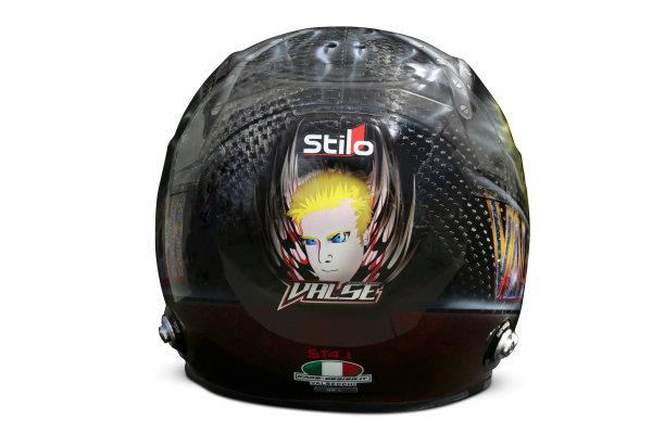 Albert Park, Melboune 14th March 2013 The helmet of Davide Valsecchi, Third Driver, Lotus F1. World Copyright: LAT Photographic ref: Digital Image DKAL8759