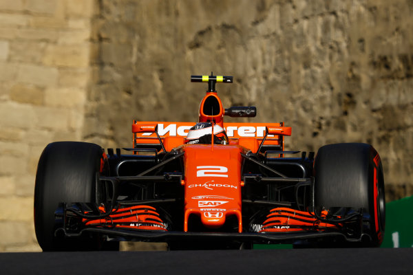 Baku City Circuit, Baku, Azerbaijan. Friday 23 June 2017. Stoffel Vandoorne, McLaren MCL32 Honda. World Copyright: Steven Tee/LAT Images ref: Digital Image _O3I1359