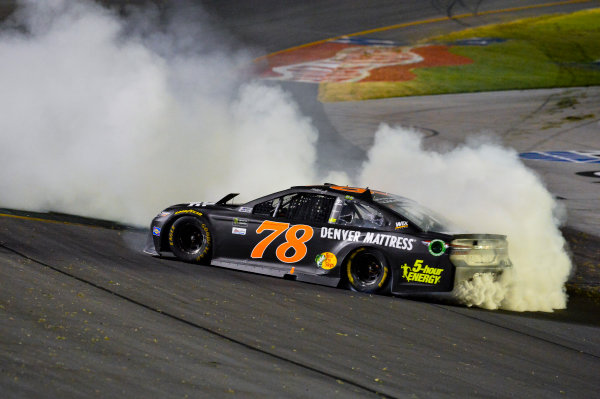Monster Energy NASCAR Cup Series Quaker State 400 Kentucky Speedway, Sparta, KY USA Saturday 8 July 2017 Martin Truex Jr, Furniture Row Racing, Furniture Row/Denver Mattress Toyota Camry celebrates World Copyright: Barry Cantrell LAT Images