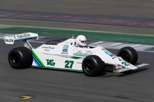 Williams 40 Event Silverstone, Northants, UK Friday 2 June 2017. An Alan Jones Williams FW07 is demonstrated. World Copyright: Zak Mauger/LAT Images ref: Digital Image _54I0130