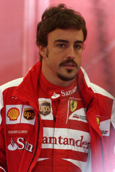 Fernando Alonso (ESP) Ferrari. Formula One World Championship, Rd8, British Grand Prix, Practice, Silverstone, England, Friday 28 June 2013.