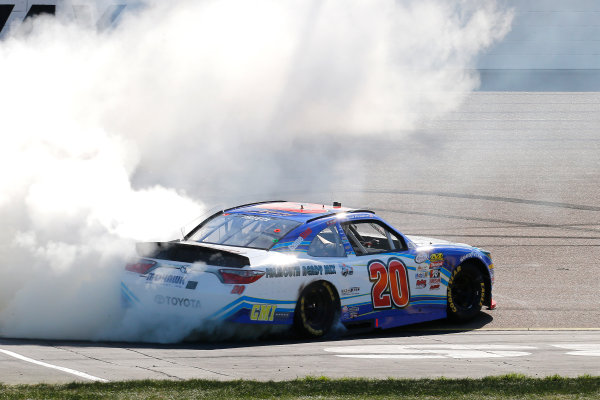 NASCAR XFINITY Series U.S. Cellular 250 Iowa Speedway, Newton, IA USA Saturday 29 July 2017 Ryan Preece, MoHawk Northeast Inc. Toyota Camry celebrates his win with a burnout  World Copyright: Russell LaBounty LAT Images