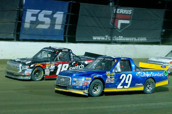 NASCAR Camping World Truck Series Eldora Dirt Derby Eldora Speedway, Rossburg, OH USA Wednesday 19 July 2017 Chase Briscoe, Cooper Standard Ford F150 and Noah Gragson, Switch Toyota Tundra World Copyright: Russell LaBounty LAT Images