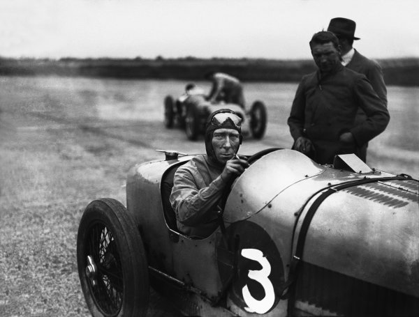 Brooklands, Surrey, England. July 1927.George Duller, portrait.World Copyright: LAT Photographic.Ref: Autocar Glass Plate A8199.