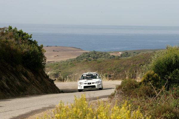 Round 12, Rally of France, Tour de Corse7th - 10th October 2008Gareth Jones, Subaru, actionWorldwide Copyright: McKlein/LAT