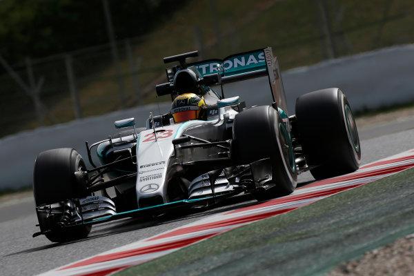 Circuit de Catalunya, Barcelona, Spain. Wednesday 13 May 2015. Pascal Wehrlein, Mercedes F1 W06 Hybrid.  World Copyright: Alastair Staley/LAT Photographic. ref: Digital Image _79P5137