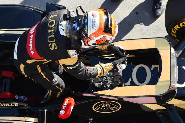 Romain Grosjean (FRA) Lotus E23 Hybrid at Formula One World Championship, Rd1, Australian Grand Prix, Practice, Albert Park, Melbourne, Australia, Friday 13 March 2015.