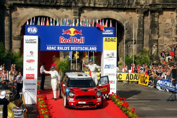 Round 09 - Rally Deutschland 18-21 August 2011.Dani Sordo, Mini WRC, Podium.Worldwide Copyright: McKlein/LAT
