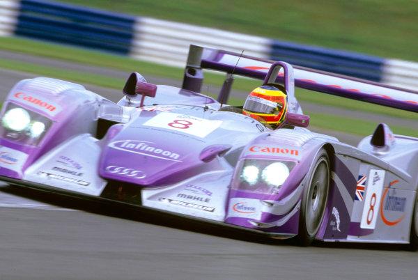 2004 Le Mans Endurance SeriesSilverstone 1000 KilometersSilverstone, England. 12th - 14th August 2004Pierre Kaffer (Veloqx Audi R8). Action.World Copyright: Glenn Dunbar/LAT Photographicref: 35mm Transparency A19