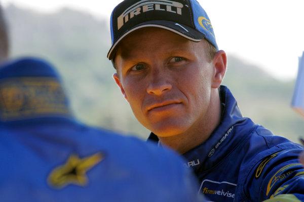 2004 FIA World Rally Champs. Round thirteen, Rally Italia Sardinia.30th September - 3rd October 2004.Petter Solberg, Subaru, portrait.World Copyright: McKlein/LAT