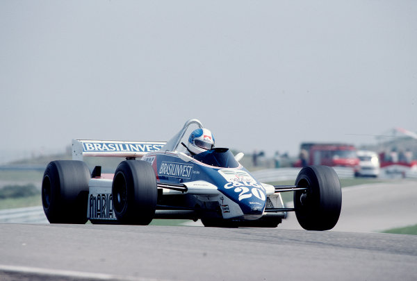 1982 Dutch Grand Prix.Zandvoort, Holland.1-3 July 1982.Chico Serra (Fittipaldi F8D Ford).Ref-82 HOL 73.World Copyright - LAT Photographic