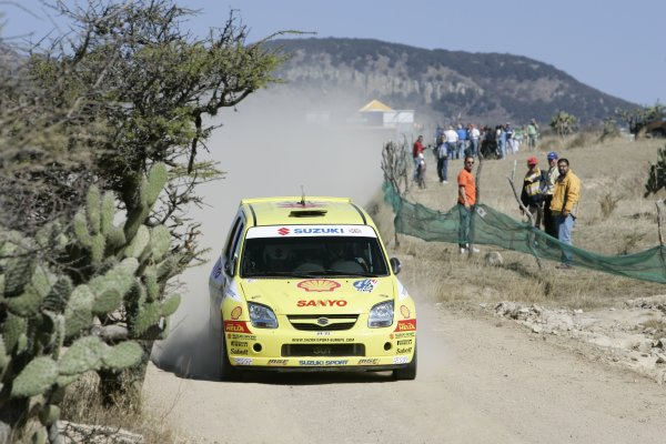2005 FIA World Rally Championship Round 3, Mexico Rally. 10th - 13th March 2005. Guy Wilks,(Suzuki Ignis S1600), 11th position, action. World Copyright: McKlein/LAT Photographic. ref: Digital Image Only.