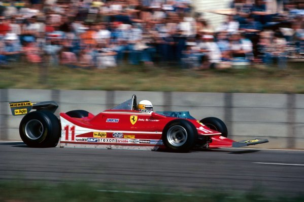 Jody Scheckter (RSA) Ferrari 312T4 finished the race in second position. South African Grand Prix, Rd 3, Kyalami, South Africa, 3 March 1979. BEST IMAGE