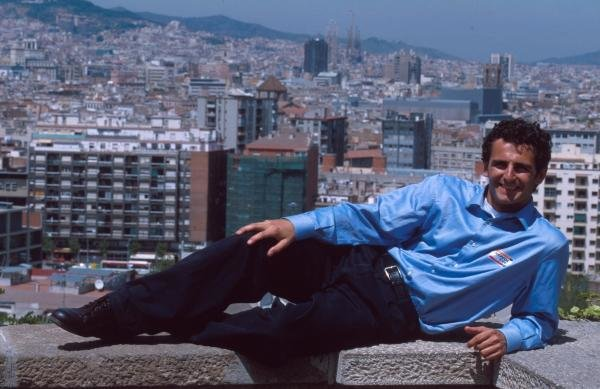 Pedro De la Rosa relaxing at home in Barcelona.