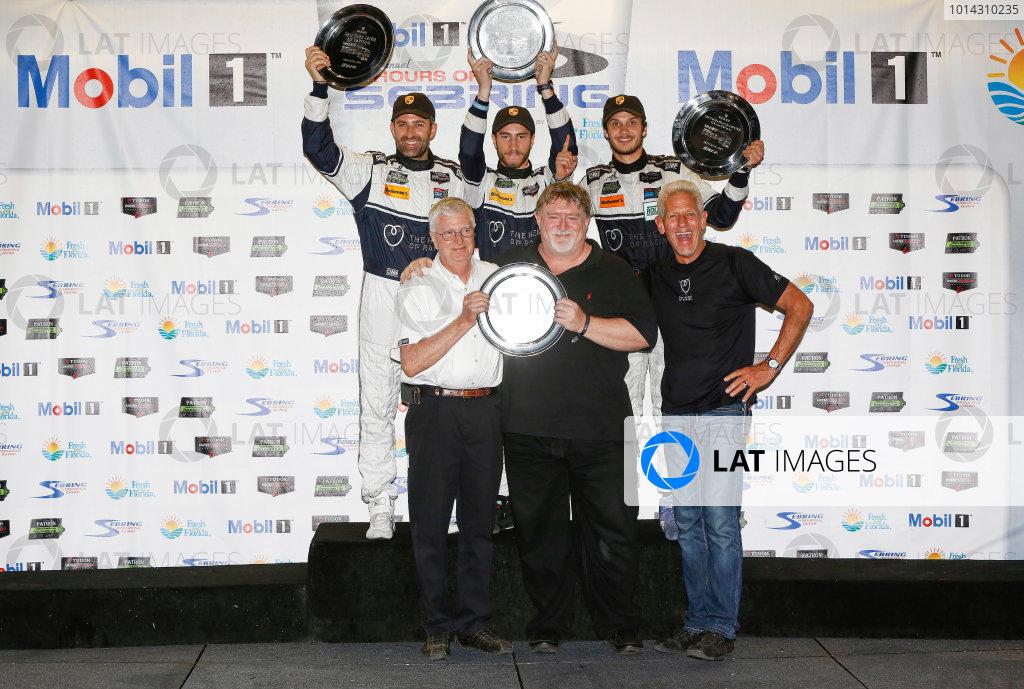 19-21 March, 2015, Sebring, Florida, USA GTD Winners 23, Porsche, 911 GT America, GTD, Ian James, Mario Farnbacher, Alex Riberas, ©2015, Michael L. Levitt LAT Photo USA