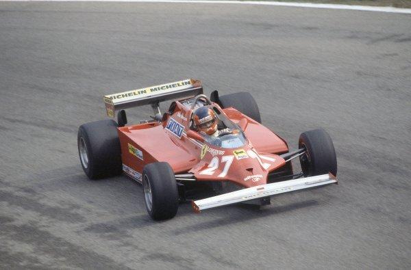 1981 Italian Grand PrixMonza, Italy. 11-13 September 1981.Gilles Villeneuve (Ferrari 126CK), retired. Ref - 81ITA28.World Copyright - LAT Photographic