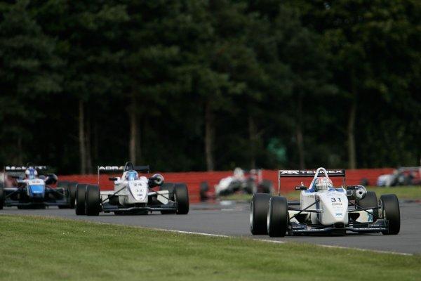 2007 British Formula Three Championship.Silverstone, England. 11th and 12th August 2007.Sergio Perez (T Sport) leads John Martin (Alan Docking Racing).Action.World Copyright: Drew Gibson/LAT