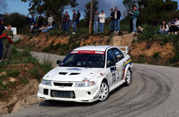 2002 World Rally ChampionshipInmarsat Corsica Rally, 8th-10th March 2002.Martin Rowe on stage 13.Photo: Ralph Hardwick/LAT