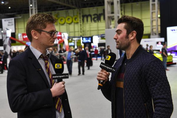 Jack Harvey is interviewed for Motorsport TV.