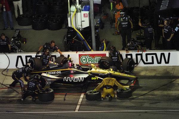 Marcus Ericsson, Arrow Schmidt Peterson Motorsports Honda, pit stop