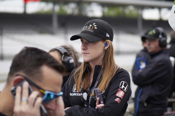 Liz Van Oostenburg, Colton Herta, Harding Steinbrenner Racing Honda
