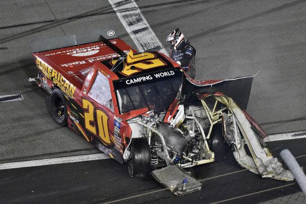 #20: Spencer Boyd, Young's Motorsports, Chevrolet Silverado American PVMT/Raised On BlkTop