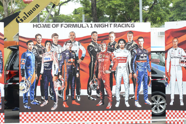 Artwork of drivers on the 2019 Formula 1 grid