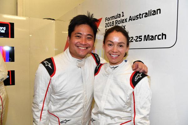 F1 Experiences 2-Seater passengers at Formula One World Championship, Rd1, Australian Grand Prix, Qualifying, Melbourne, Australia, Saturday 24 March 2018.