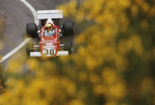 Nanni Galli, Ferrari 312B, during practice.