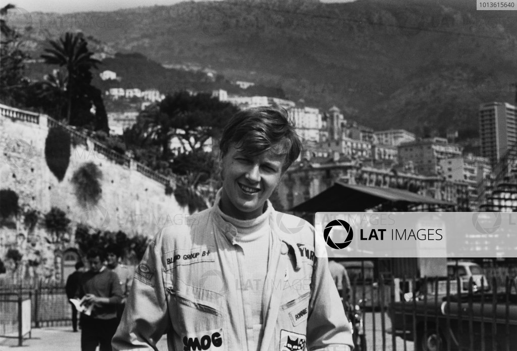 Monte Carlo, Monaco. 17th May 1969.Ronnie Peterson (Tecno 69 - Ford/Novamotor), 1st position, portrait. World Copyright: LAT Photographic.Ref: 2498 - 20.