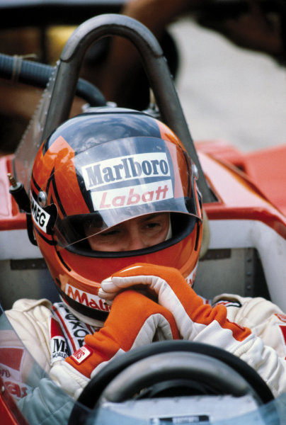 Silverstone, England. 12th - 14th July 1979.Gilles Villeneuve (Ferrari 312T4) 14th position, portrait. World Copyright: LAT Photographic.Ref: V2A03