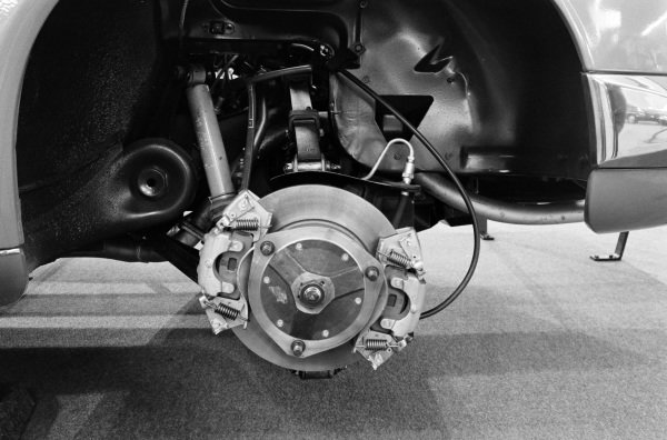 Disc brakes on a Panhard 24.