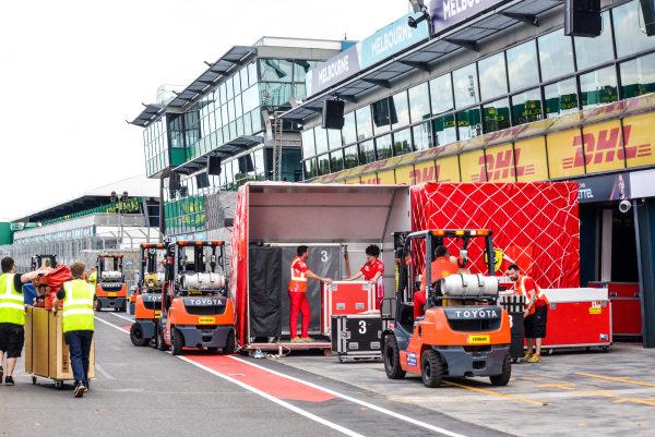 Formula 1 set up in Melbourne