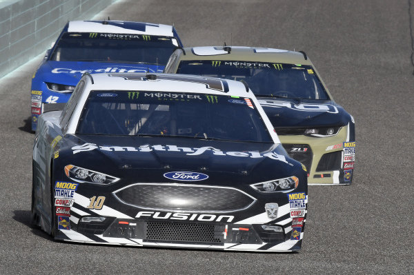 #10: Aric Almirola, Stewart-Haas Racing, Ford Fusion Smithfield, #3: Austin Dillon, Richard Childress Racing, Chevrolet Camaro Dow UCON
