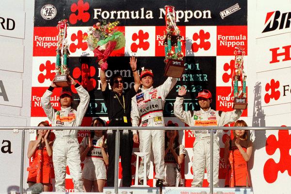 2001 Formula Nippon ChampionshipMine, Japan. 23rd September 2001.Race podium.World Copyright: Yasushi Ishihara/LAT Photographicref: Digital Image Only