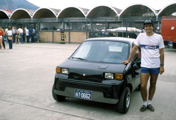Nelson Piquet with a Dacon 828.