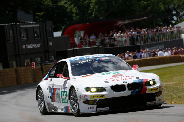 2015 Goodwood Festival of Speed Goodwood Estate, West Sussex, England. 25th - 28th June 2015. Cindy Allemann/Frazer Gibney, BMW M3 GT2 Le Mans. World Copyright: Alastair Staley/LAT Photographic ref: Digital Image_R6T9806