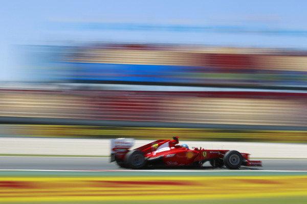 Circuit de Catalunya, Barcelona, Spain11th May 2012Fernando Alonso, Ferrari F2012. World Copyright:Andrew Ferraro/LAT Photographicref: Digital Image  _Q0C8700