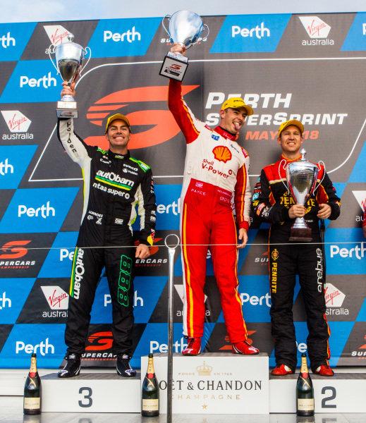 Scott McLaughlin, DJR Team Penske Ford Craig Lowndes, Triple Eight Race Engineering Holden David Reynolds, Erebus Motorsport Holden