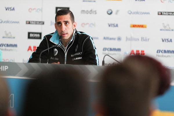 Sébastien Buemi (SUI), Renault e.Dams, Renault Z.E 17, in the press conference.