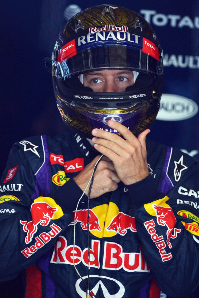 Sebastian Vettel (GER) Red Bull Racing RB9.Formula One World Championship, Rd9, German Grand Prix, Qualifying, Nurburgring, Germany, Saturday 6 July 2013.