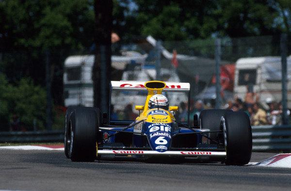 Riccardo Patrese (ITA) Williams Renault FW13B - Winner San Marino Grand Prix, Imola, 13 May 1990