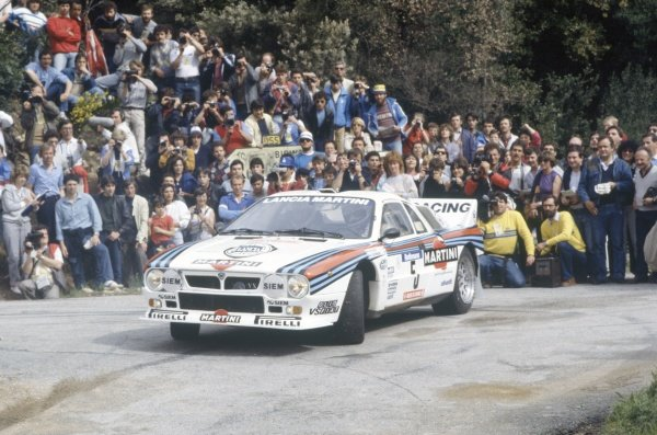 1984 World Rally Championship.Tour de Corse, Corsica, France. 3-5 May 1984.Markku Alen/Ilkka Kivimaki (Lancia Rally 037), 1st position.World Copyright: LAT PhotographicRef: 35mm transparency 84RALLY10
