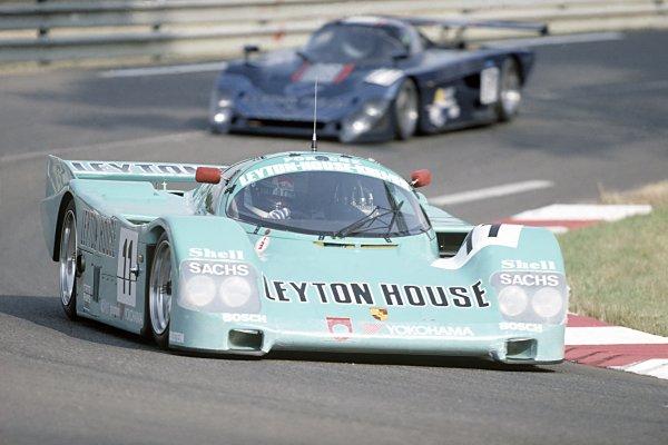 1989 Le Mans 24 Hours.Le Mans, France. 10th-11th June.George Fouche/Hideki Okada/Masanori Sekiya, Porsche 962CK6, retired due to an accident on lap 42.World Copyright: LAT Photographic.Ref: 35mm Transparency.