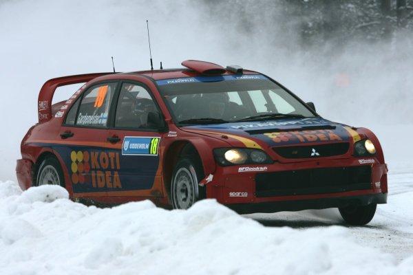 2007 FIA World Rally Championship,Round 2 Swedish Rally 8th-11th February 2007,Toni Gardemeister, Mitsubishi, action.Worldwide Copyright McKlein/LAT.